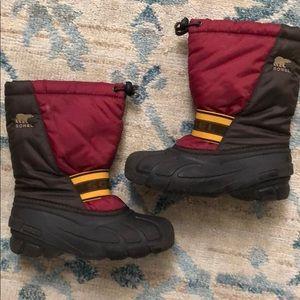 Sorel Dark Red Cub Boots